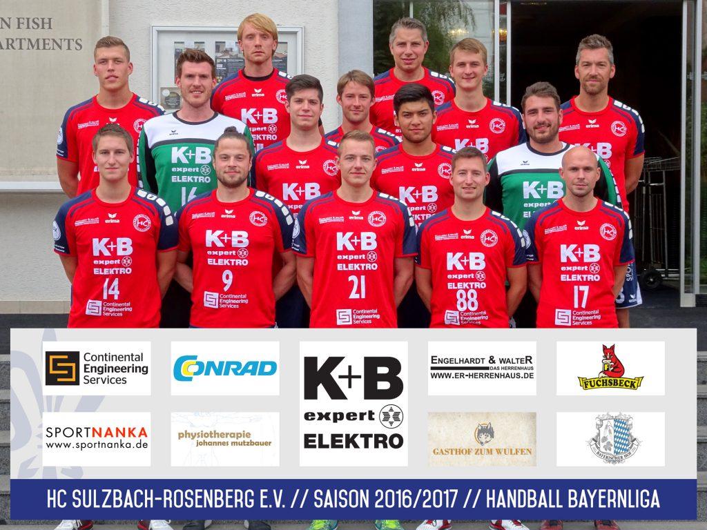 HC Sulzbach Bayernliga Handball Saison 2016-2017